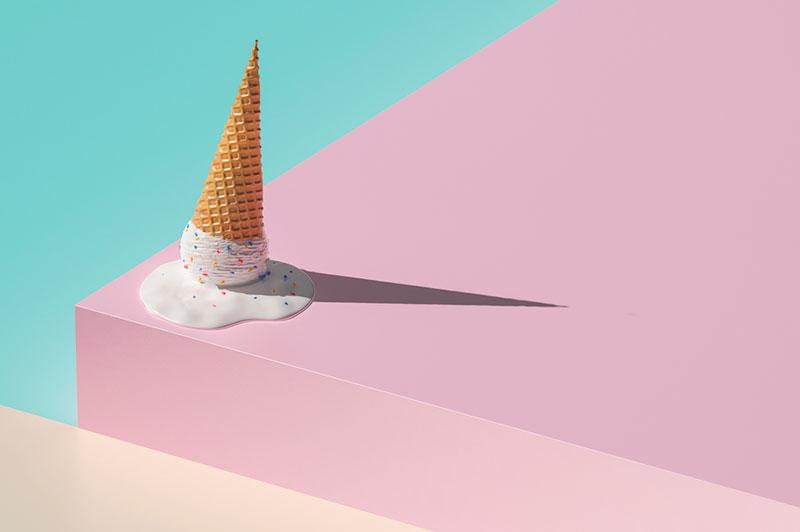 Egor Shkolnikov photography   ice cream melting on colorful background