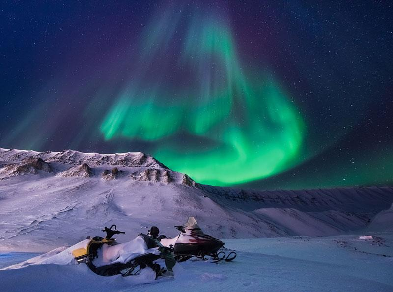 Polina Bublik photography northern lights