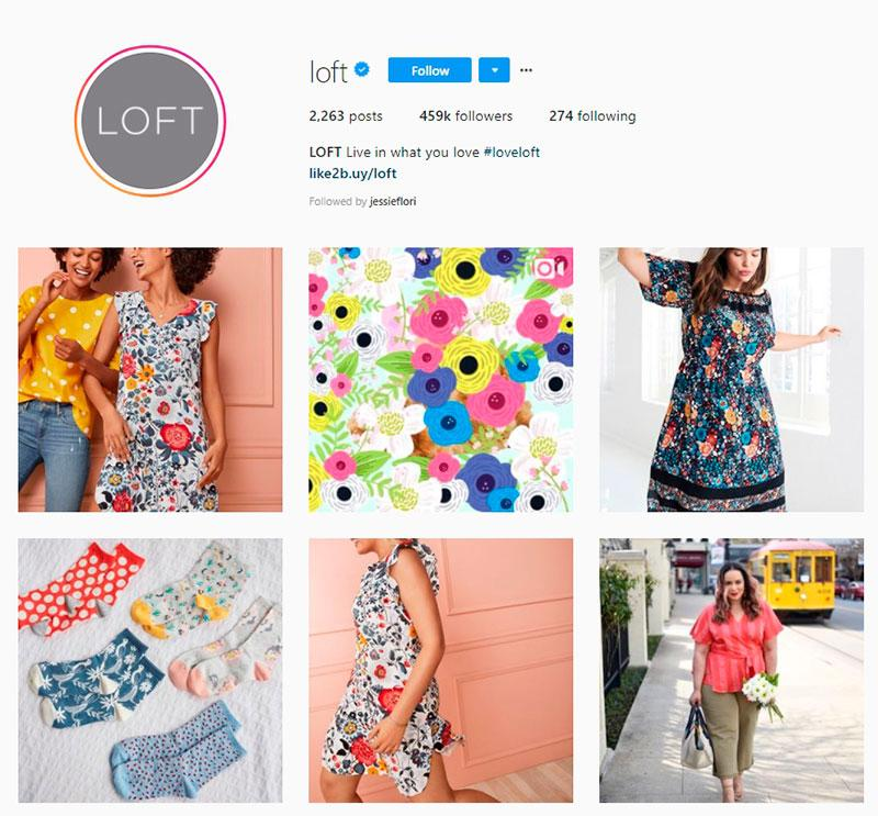 loft instagram account