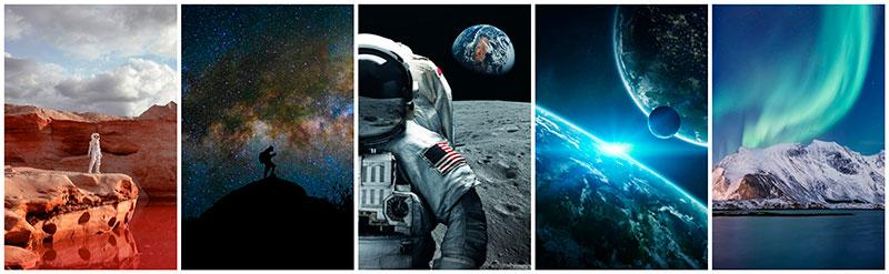 stock photography about cosmos, space and astranauts