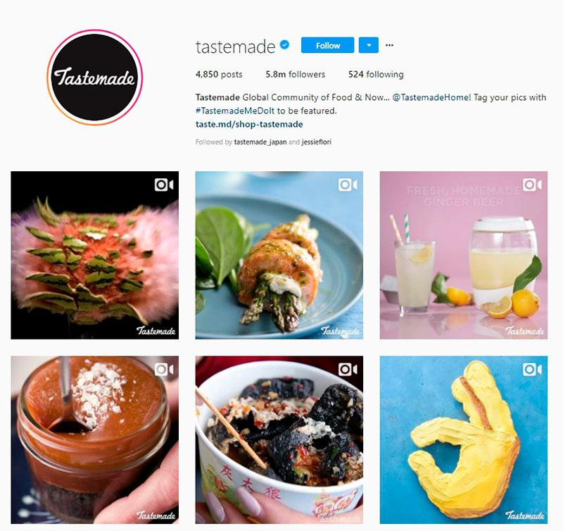 tastemade instagram account
