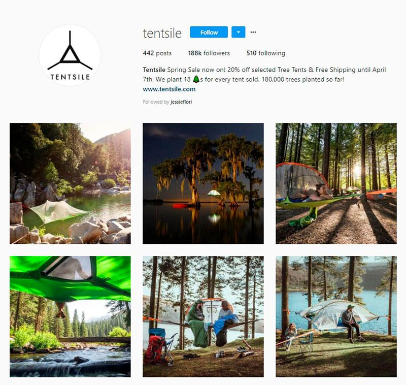 tentsile instagram account
