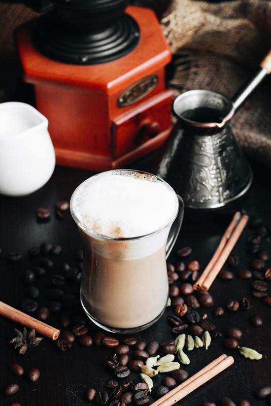 Anna Georgievna stock photography preparing coffee