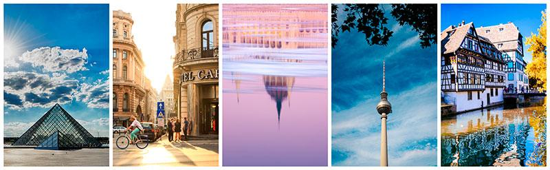 europe's capitals stock photography