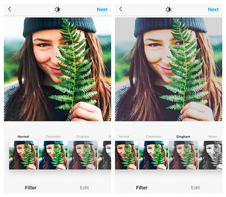 A Closer Look at Popular Instagram Filters