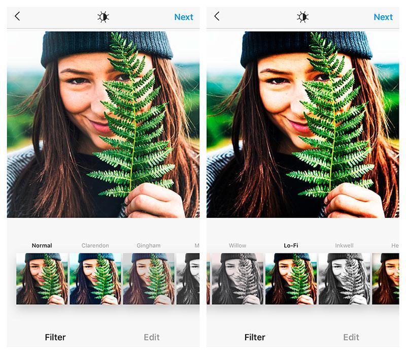 lo fi instagram filter