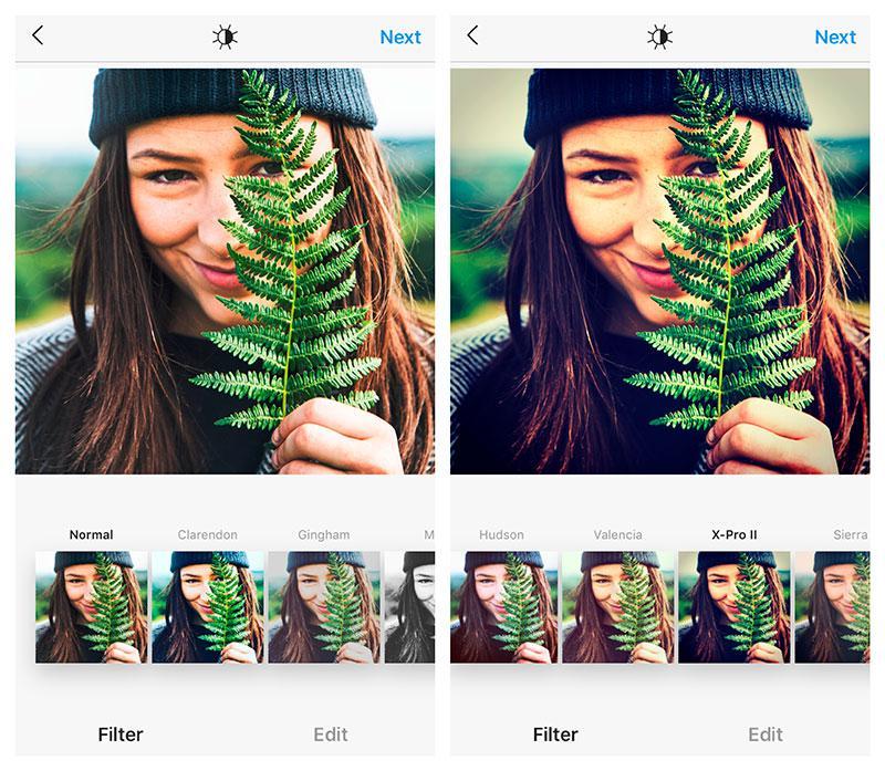 x pro II instagram filter