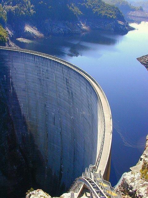 enormous dam