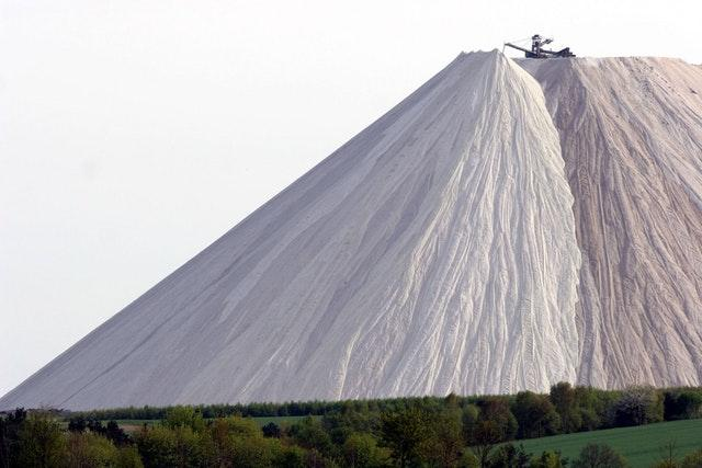 Giant pile of salt in Germany (Monte Kali)