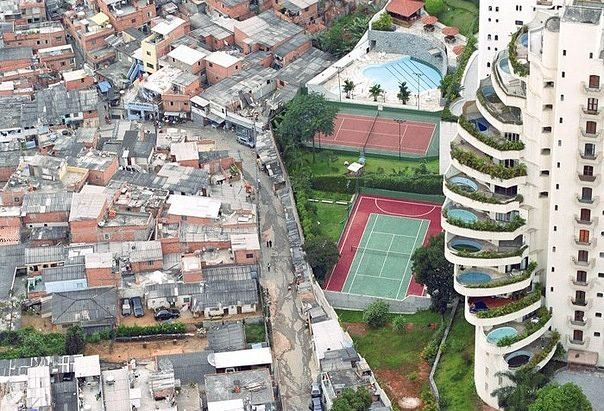 In one city in Brazil, this is the separation between the poor and wealthy