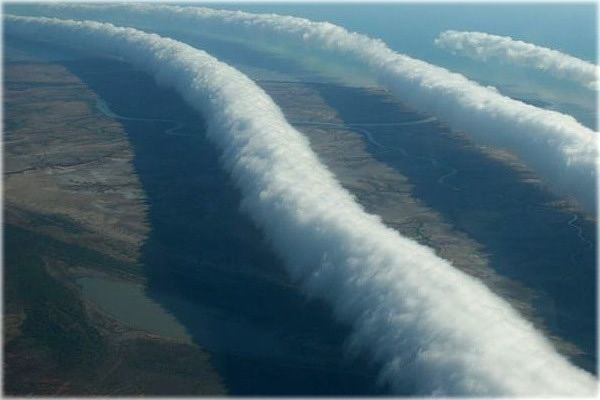These clouds are called Morning Glory. This picture was taken in the Gulf of Carpentaria in Australia