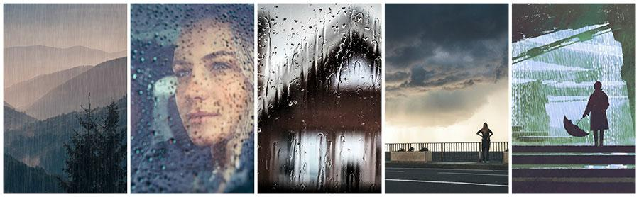artistic photos of rainy days