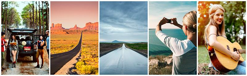 on the road travel featured collection