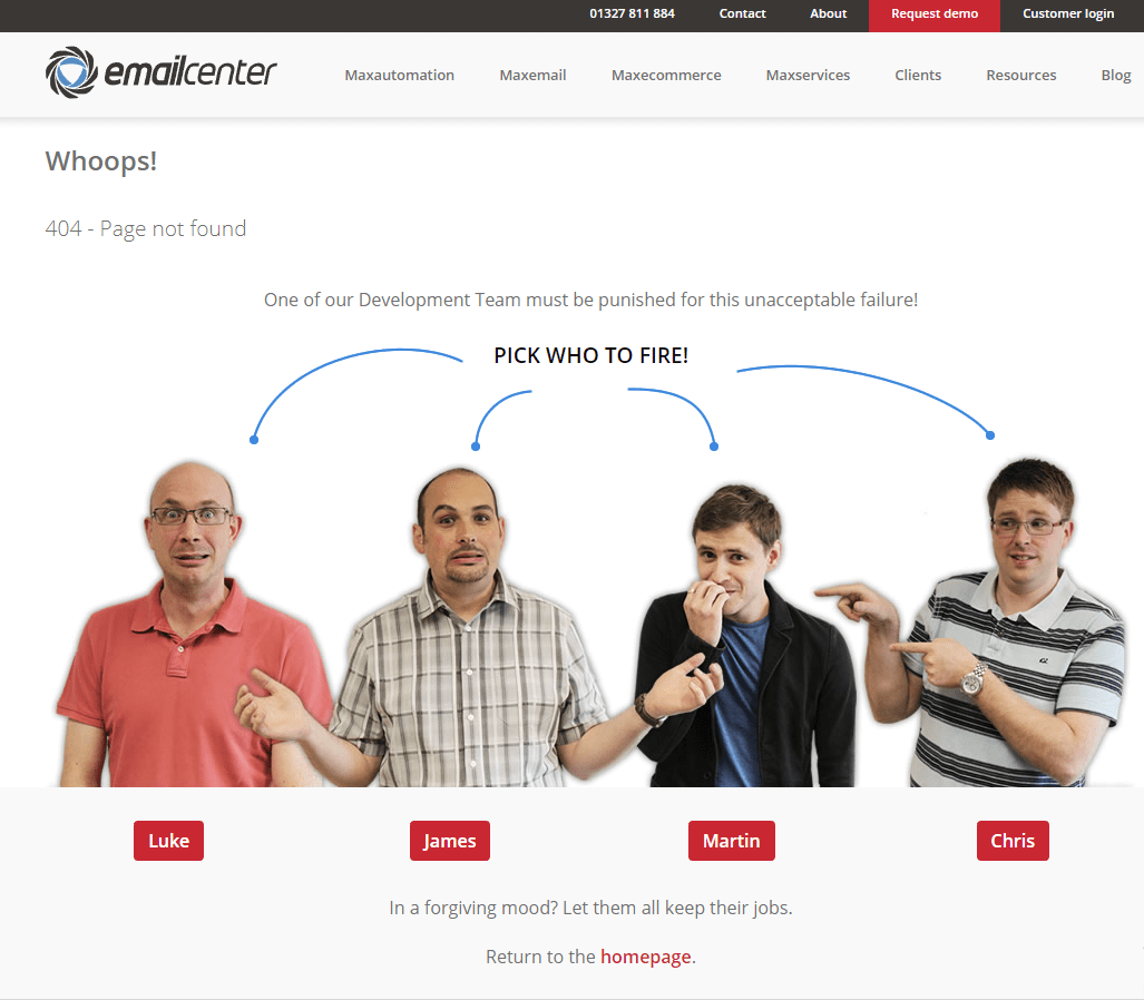 EmailCenterUk.com 404 error page