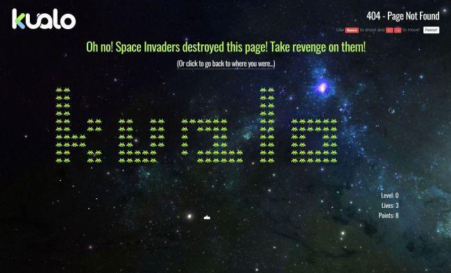 Kualo 404 error page