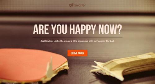 Kwarter 404 error page