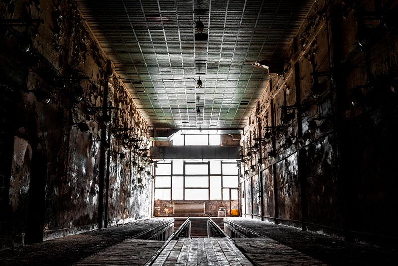 pictures of abandoned buildings stock photography
