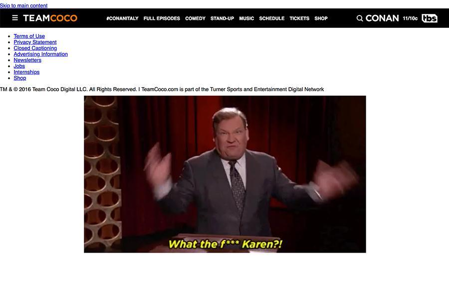 team coco 404 error page