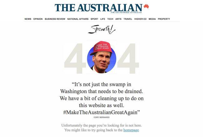 the australian 404 error page