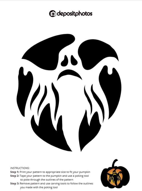 advanced halloween pumpkin carving stencil 2018 depositphotos