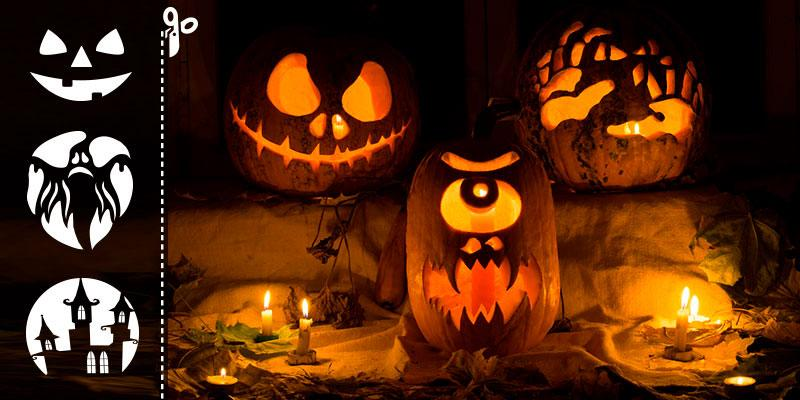 free halloween pumpkin templates from depositphotos