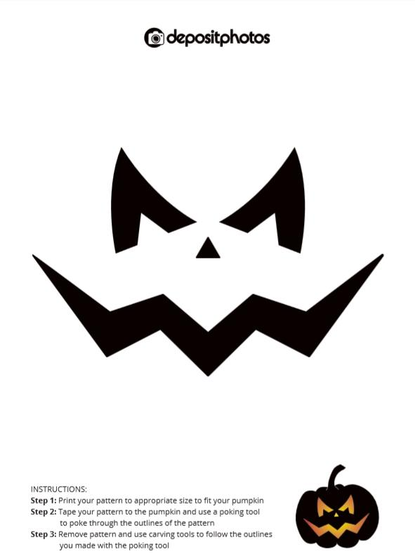 simple halloween pumpkin carving stencil 2018 depositphotos