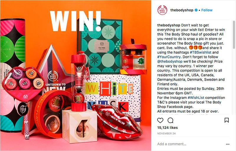 The Body Shop's #TBSwishlist Giveaway Contest