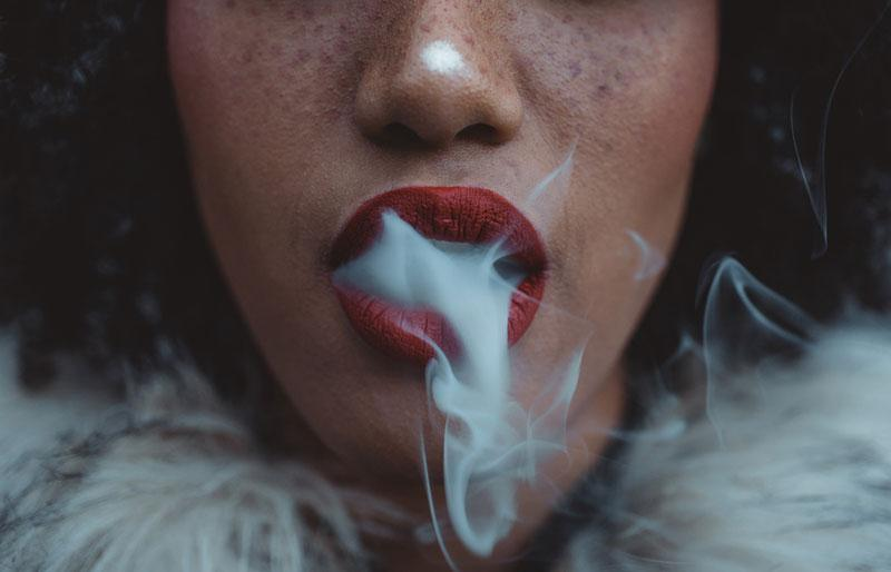 trendy photography - smoke coming out from the mouth