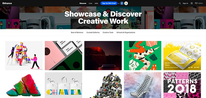 Behance is among top graphic design tools for inspiration and showcasing portfolios.