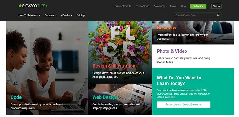 Envato Tuts+. One of the go-to online graphic design tools for tutorials
