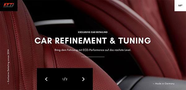 ECD Performance minimalistic website design for your inspiration