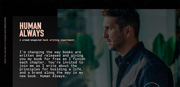 Inspirational Human Always website for writer Justin Keller