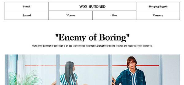 Won Hundred website design for your inspiration