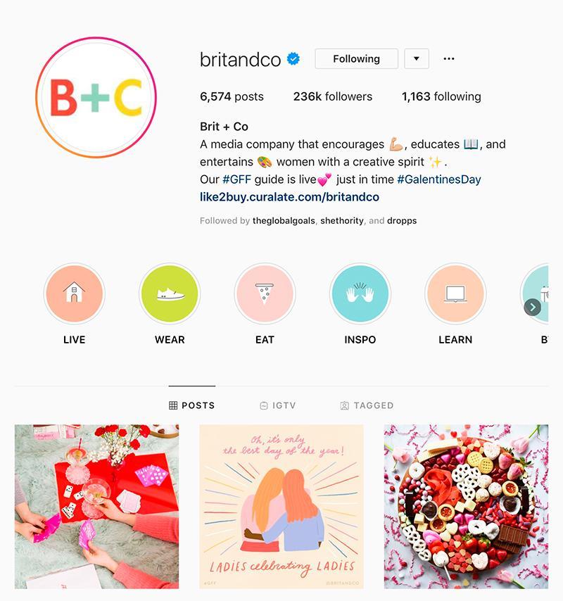 britandco instagram page
