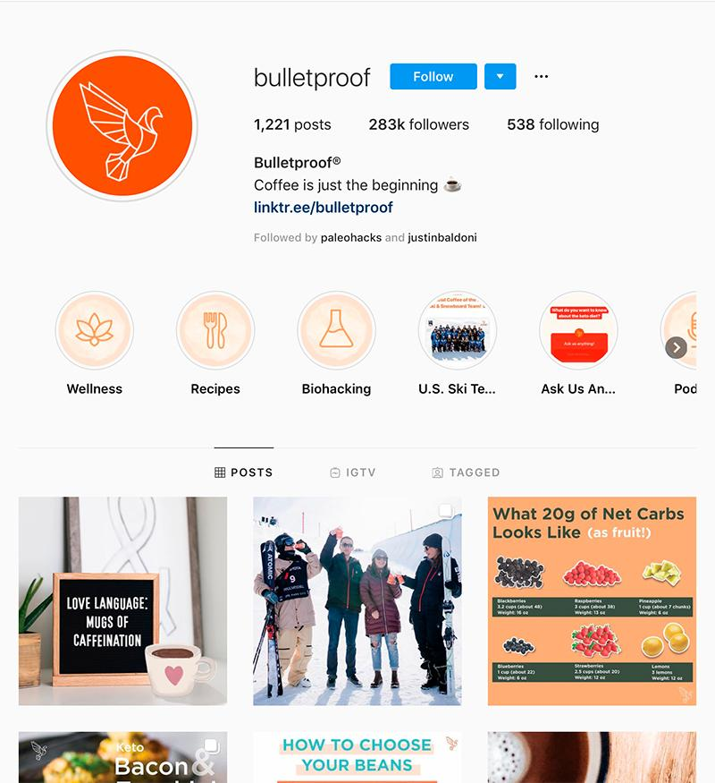 bulletproof instagram account