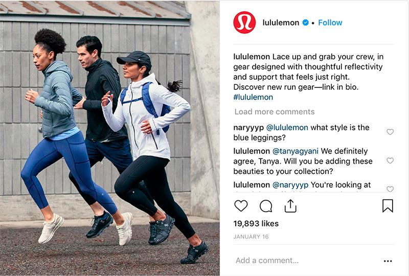 lululemon instagram post