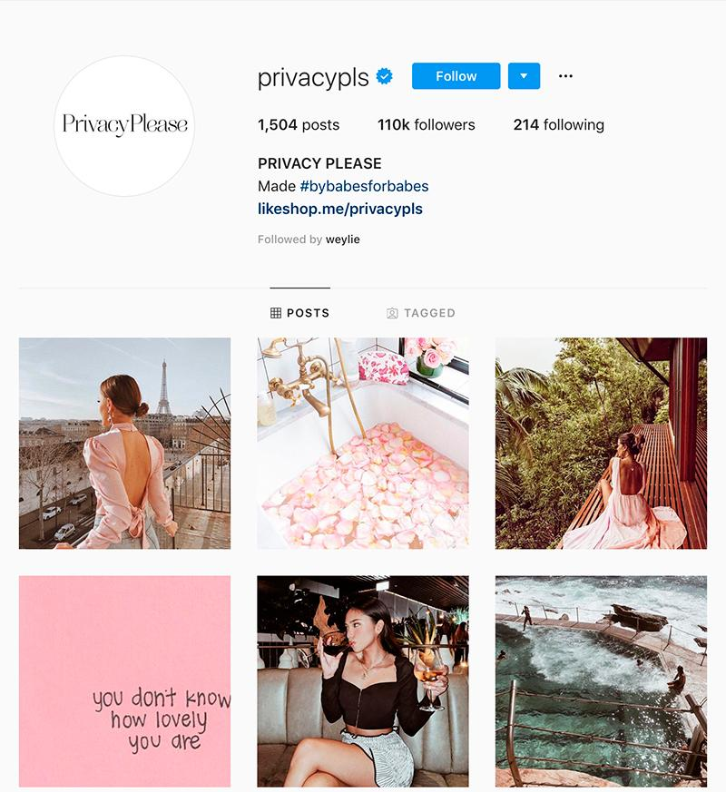 privacypls instagram page