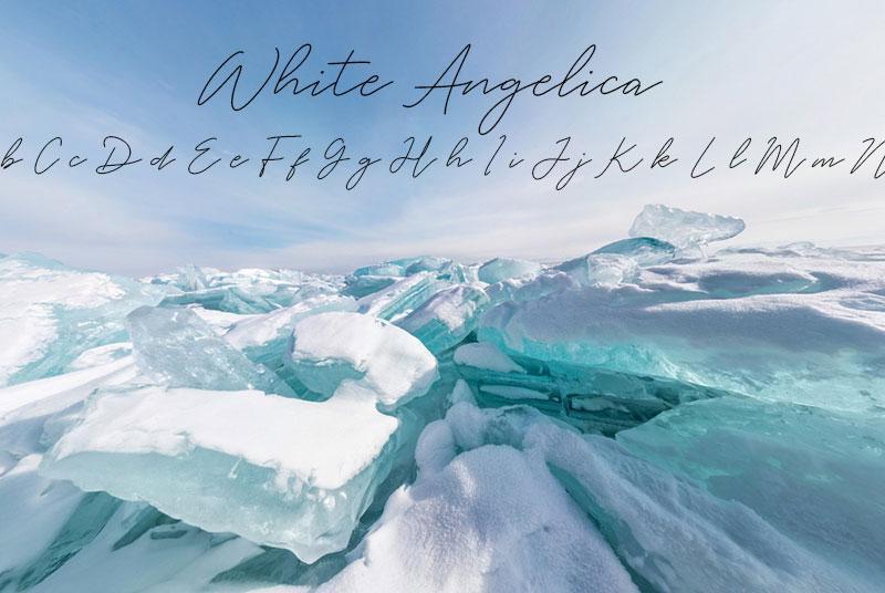 white angelica minimalist font
