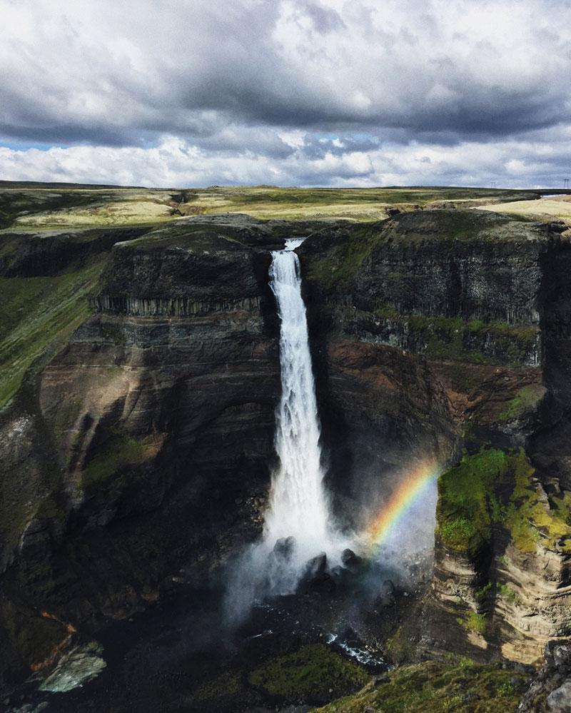 The Háifoss waterfall, Iceland