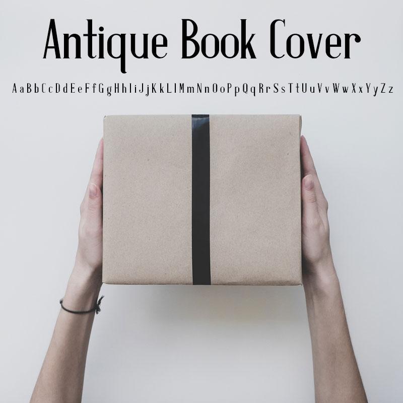 Antique Book Cover minimalistic font
