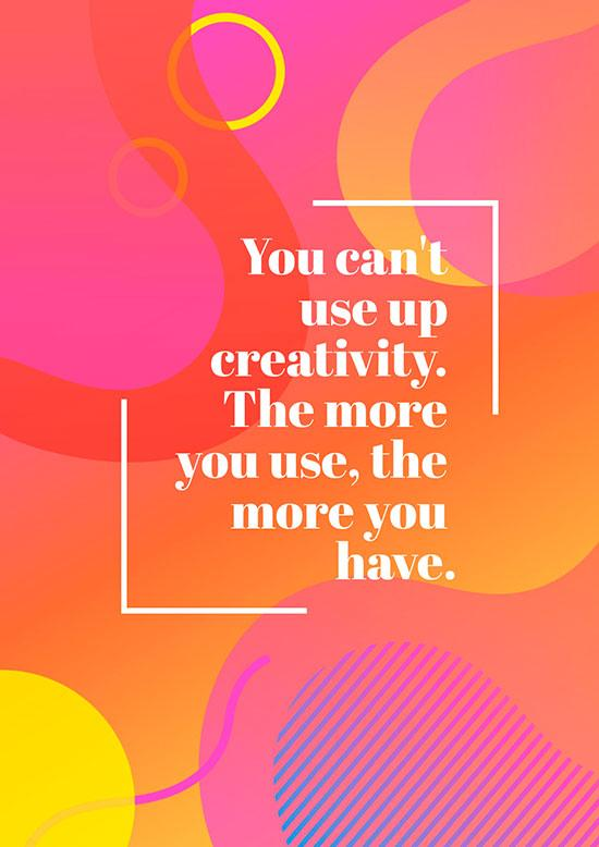 motivational posters on creativity