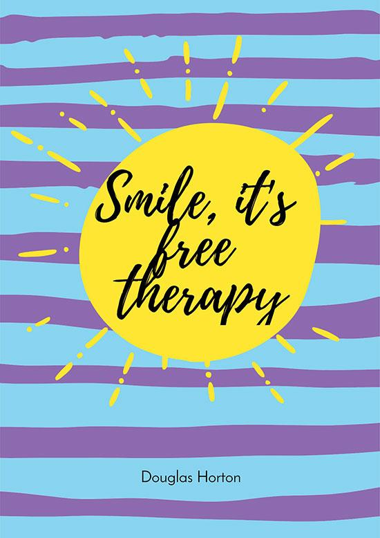 mile, it's free therapy poster