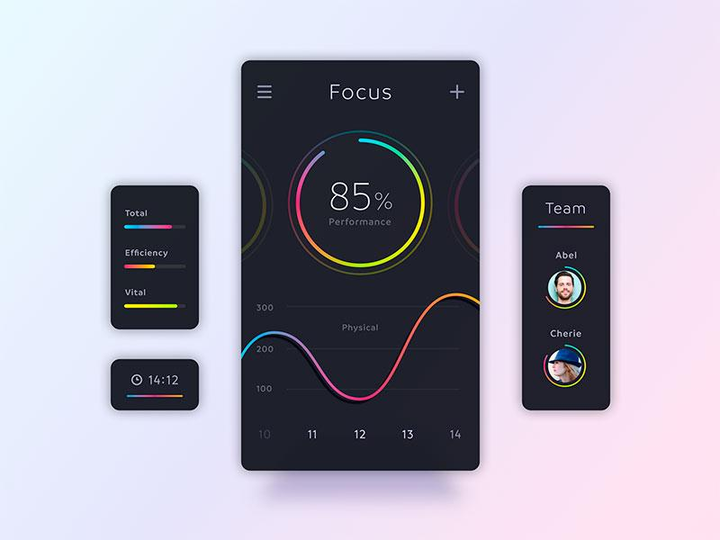 Gradients is one of ux design trends 2019