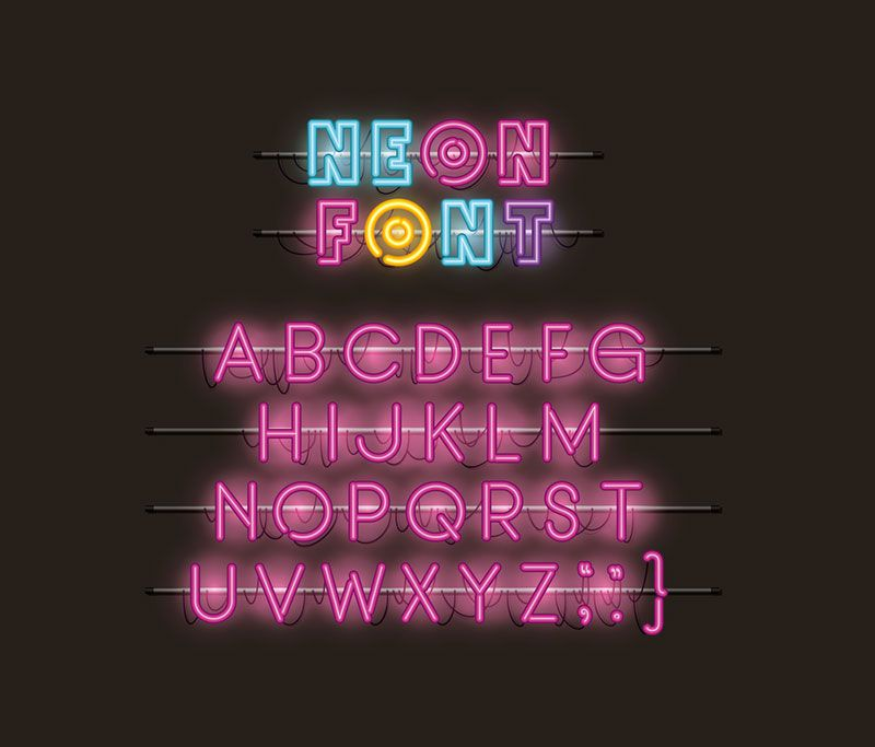 Photo collection: Neon signs and colors