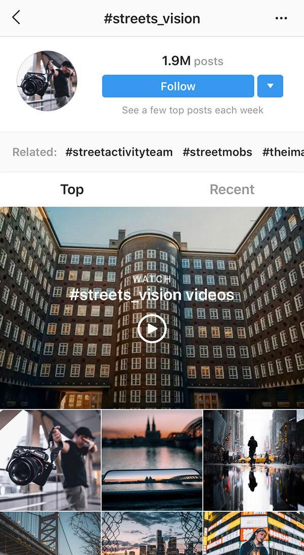 Instagram hashtags for photographers