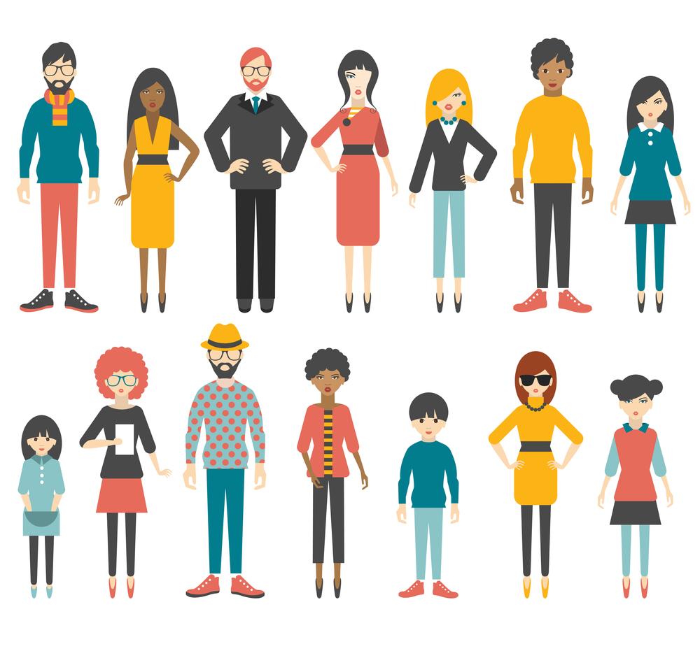 illustration of people for social media