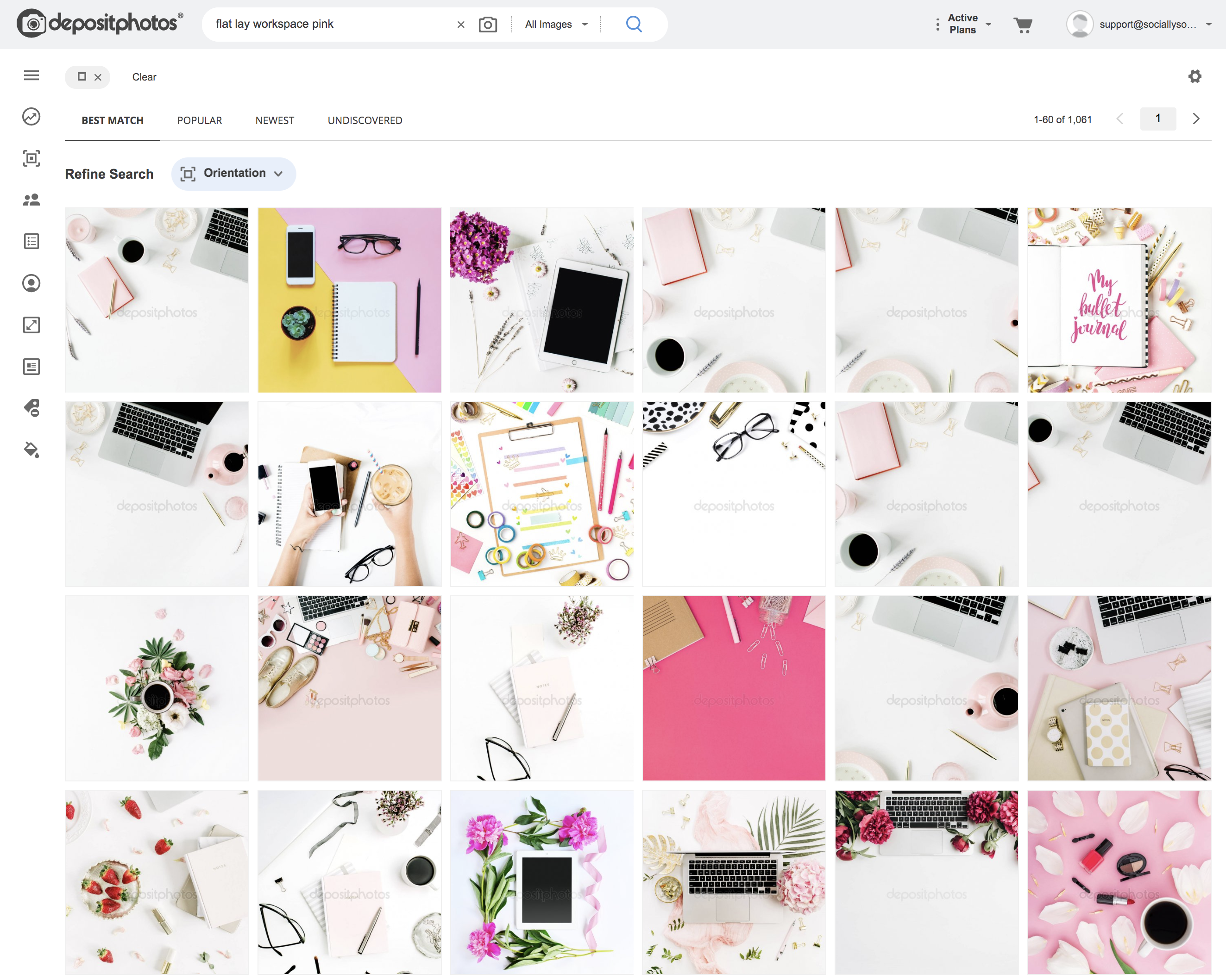 Search for Pink + Workspace + White Space