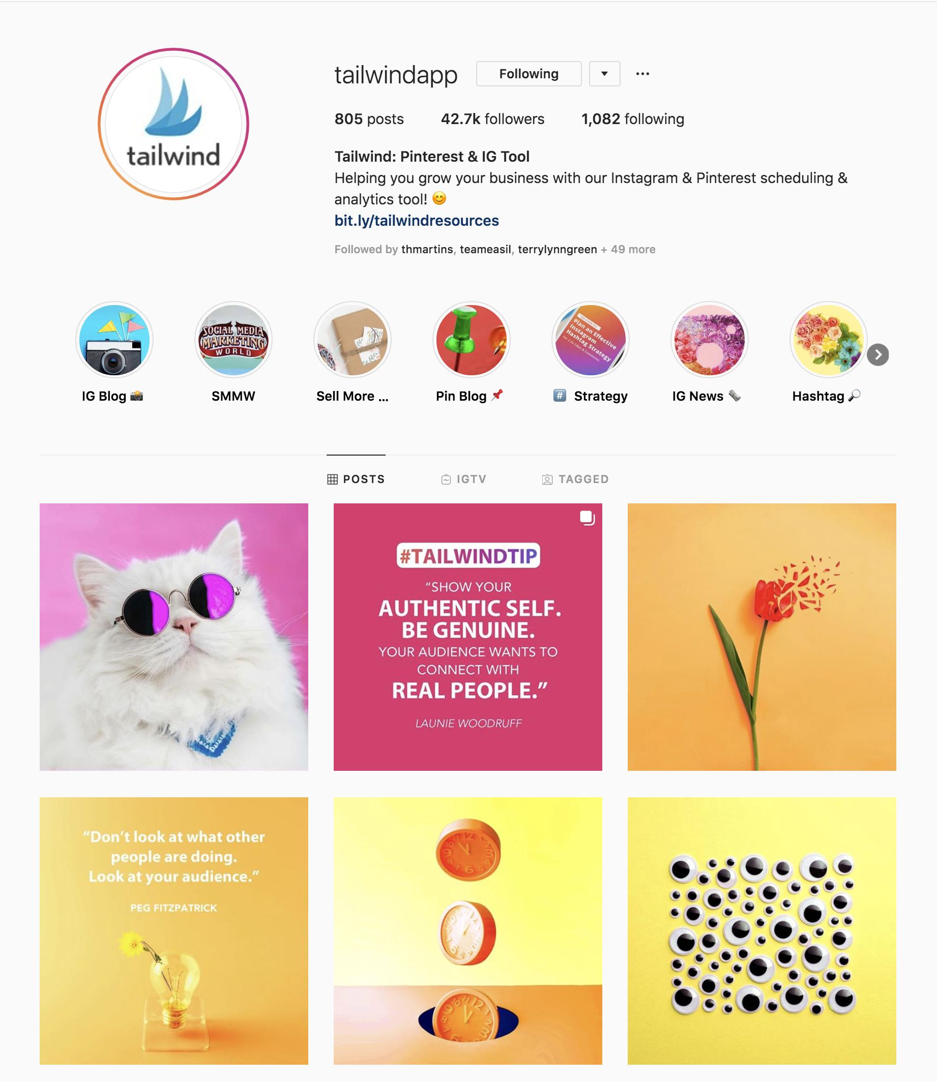 Tailwind Instagram Account