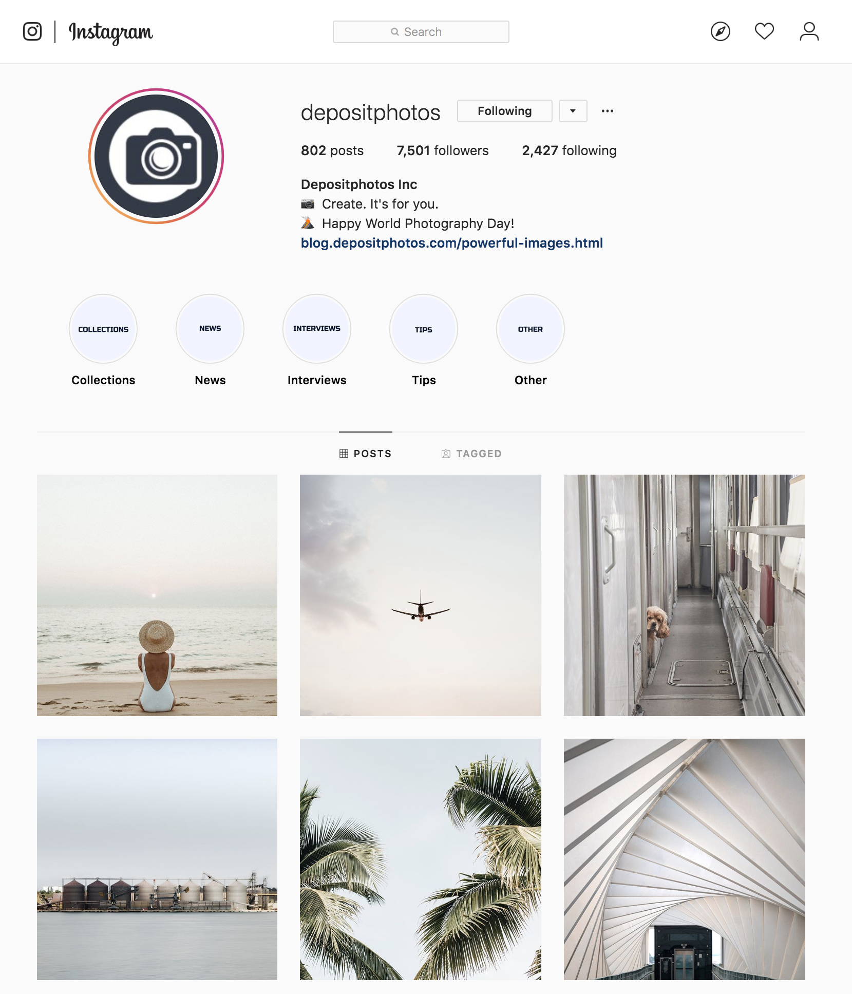 Depositphotos Instagram