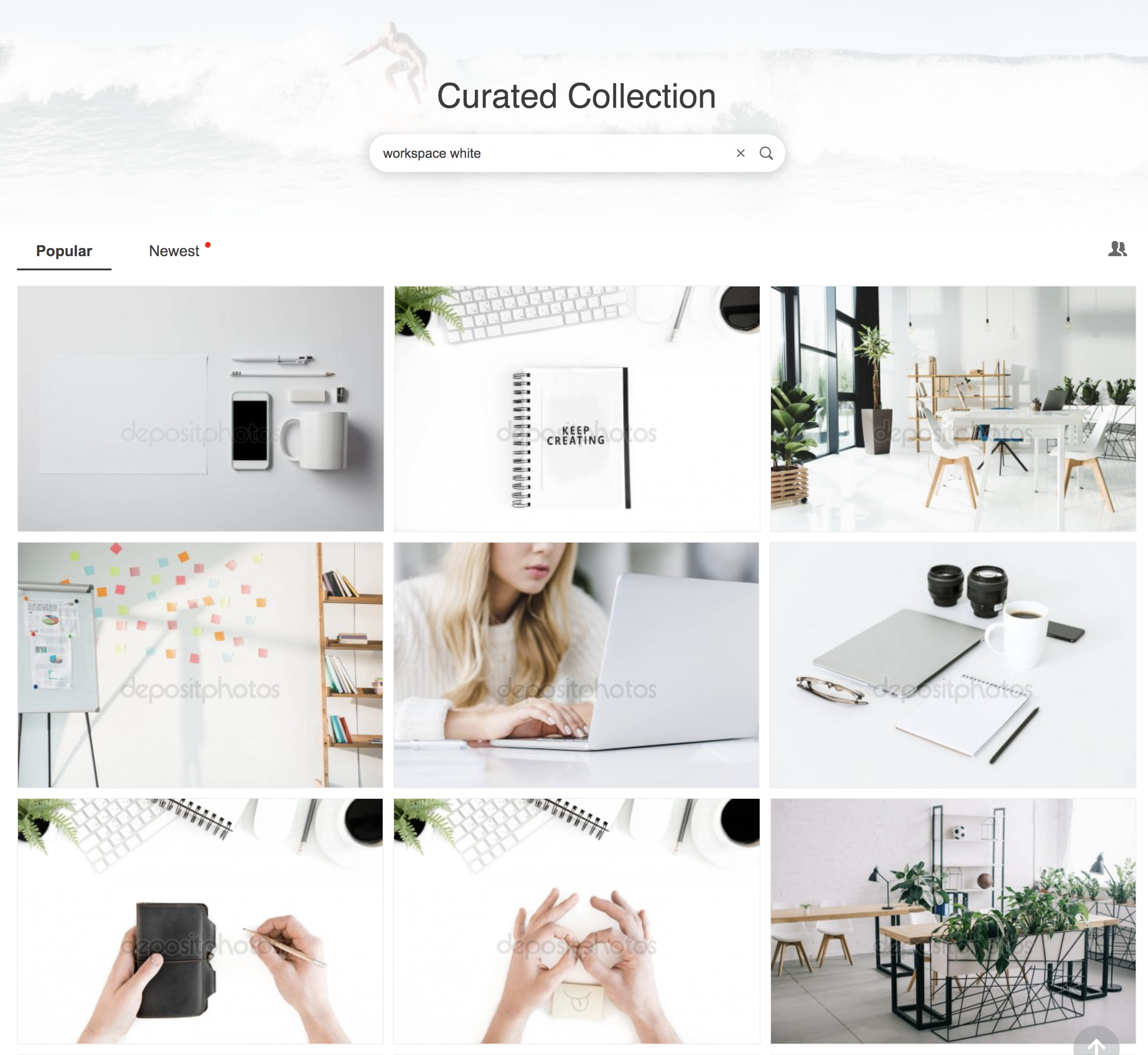 Workspace (white) images